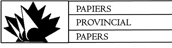 Provincial Papers